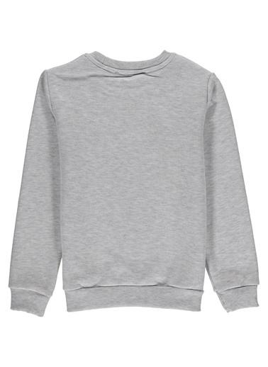 Morhipo Kids O Yaka Baskılı Sweatshirt Gri